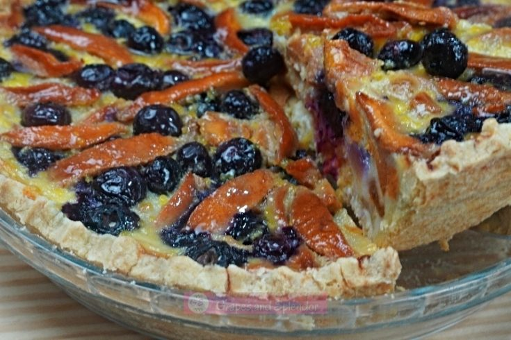 Impossible Peach Blueberry Pie
