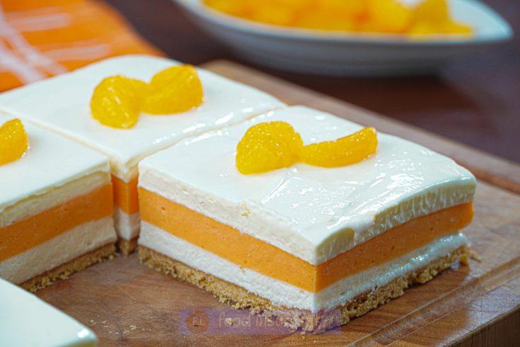 No-Bake Orange Dreamsicle Lasagna