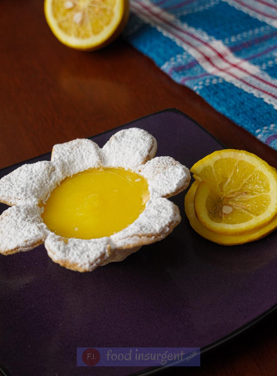 Flower Shaped Mini Lemon Tarts